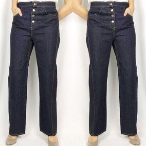 Zara High Waist Button Fly Jeans Wide Leg